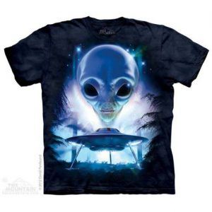 tricou-alien-just-visiting