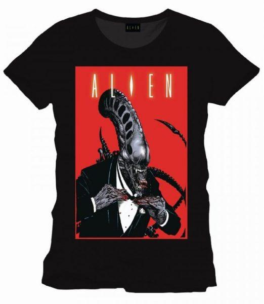 tricou-alien-tuxedo-comics-cover