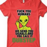 tricou-dubstep-alien-red