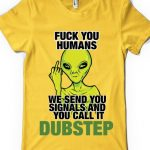 tricou-dubstep-alien-yellow